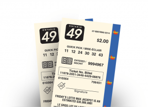 Two ONTARIO 49 tickets