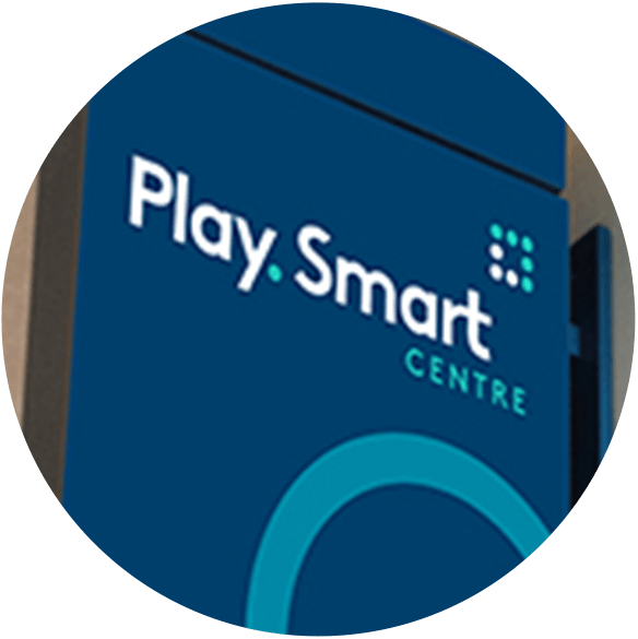 OLG PlaySmart logo on circular badge