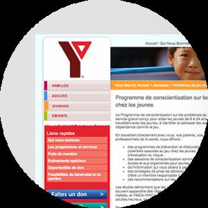 Programme de sensibilisation aux jeux de hasard chez les jeunes (PSJJ) du YMCA.